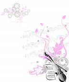 Abstract Music Illustration.