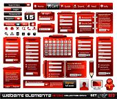 Web design elements extreme collection 2 BlackRed Inferno - Many different form styles, frames, bars, icons, banners, login forms, buttons and so on!