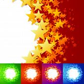 foto of floaties  - vector illustration of stars background - JPG