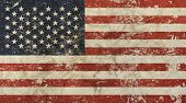 Old Grunge Vintage Faded American Us Flag poster