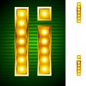 picture of alphabet letters  - Letters for signs with lamps - JPG