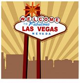 stock photo of las vegas casino  - welcome to Las Vegas sign vector - JPG