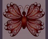 vetor de borboleta