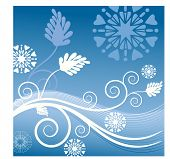 snow coils with fun snowflakes and leaves