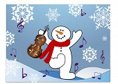 singing and dancing snowman