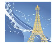 eiffel tower use with or without funky background