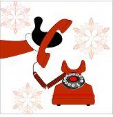 santa picking up the phone