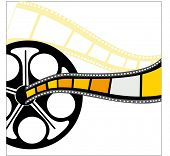 filmstrip (yellow piece behind is cut out so you can see through)