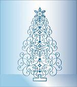 blue christmas tree 2