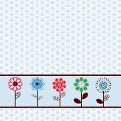 pretty spring flower paper / border