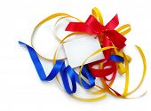 Colorful Party Ribbons, Card, Isolated