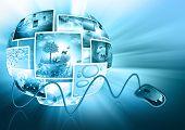 Fernsehen und Internet-Produktion-Technologie-Konzept