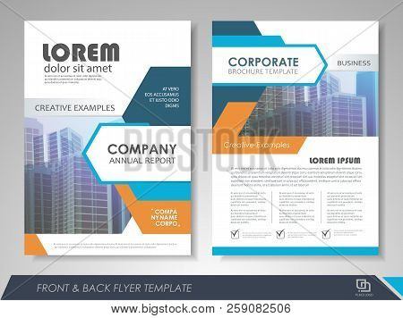 poster of Blue And Orange Modern Brochure Design, Brochure Template, Brochures, Brochure Layout, Brochure Cove