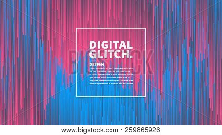 Digital Glitch Effect Vector Abstract