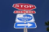 all way stop sign with