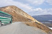 Bus at Denali national park, Alaska