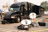sheriff satalite dish communications set up and semi truck