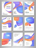 Abstract Presentation Slide Templates. Brochure Template, Brochures, Brochure Layout, Brochure Cover poster