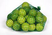 a mesh bag of Key Limes