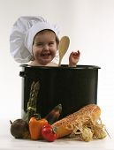 Baby Chef In Pot