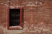 Window of a barrack of a nazi police prison in Terezin, Czech Republic.