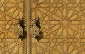 Brass gate of the Royal Palace in Fes, Morocco