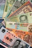 Exotic Asian banknotes