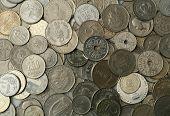 Silver coins texture
