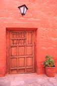 Tourist destination, colorful Arequipa - Peru. poster