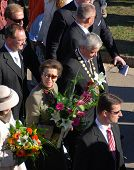 Her Majesty Princess Anne - daughter of the Queen Elizabeth II - on the visit of Velka pardubicka ho