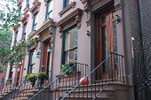 stock photo of brownstone  - Brooklyn Heights is one of Brooklyn - JPG