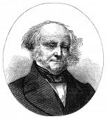 Martin Van Buren (1782-1862) was the eighth President of the United States. Engraving by unknown art