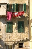 Washing Drying In The Mediterranean Sun