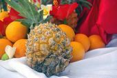 Bouquet Arrangement Of Fruits In A Tropical Resort
