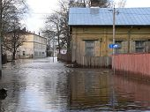 It's flooding down in Riga (Latvia)