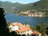 Famous Italian lake Como: Village on lake