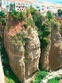 Ronda canyon - Spain Andalousia - White houses over the canyon