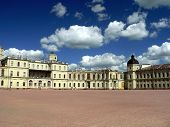 The Gatchina Palace and Park ensemble is located 45 kilometers southwest of St.Petersburg, Russia