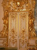 Katherine's Palace dining room door in Tsarskoe Selo (Pushkin), Russia