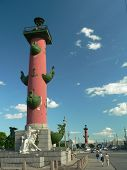 Rostral Column in St.Petersburg, Russia