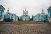 Smolniy, Saint Petersburg - one of most famous masterpieces by architect Rastrelli