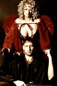 Unbelievable couple: she beautiful angel and he evil devil