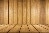 Wooden Board And Wooden Wallpaper Background ,this Is Table Top Empty Look Like Wooden Room ,this Im poster