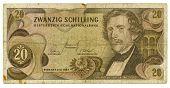 20 Shilling Bill von Österreich, 1967