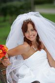 Beautiful Smiling Bride In White