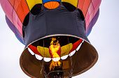 Colorful Hot Air Balloons Prepare To Launch At The Hudson Hot Air Affair In Winter poster