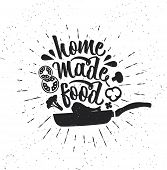 Hand Drawn Typography Poster. Inspirational Vector Typography. Homemade Food. . Vector Calligraphy poster