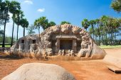 Tiger cave rock temple in Mahabalipuram ,Tamil Nadu, India