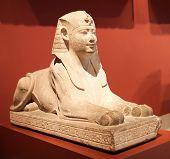 The stone Sphinx statue , Vienna , Austria