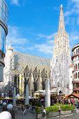 Wien, Österreich 21 Mai: Stephen Kathedrale ist eine wichtigsten Touristen-Attraktion in Wien am 21 Mai 20